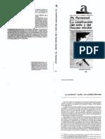 Perrenoud - La Construccion Del