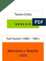 Teoría Crítica Genesis