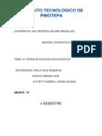 TEMA 1.6 Teoria de Desiciones Estadistica 1