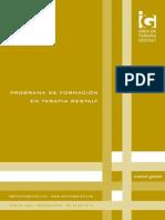 Programa Formacion Terapia Gestalt