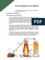 Procesos y Ruta Tecnológica de los Metales Ferrosos