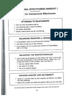 Module 2 Interpersonal Effectiveness