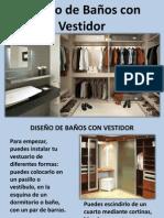 Diseño de Baños Con Vestidor