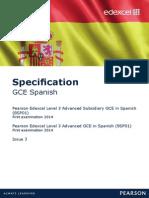 GCE Spanish 2014