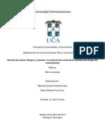 Informe de Constructivismo Social