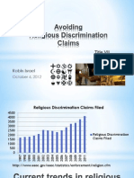 Religious Discrimination Claims