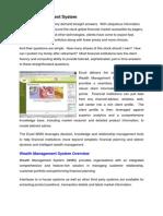 WMS Wealth Management System