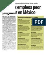 Los Diez Empleos Peor Pagados de México