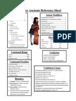 WMA Ref Sheet
