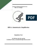 HIPPA Simplification 2013-03