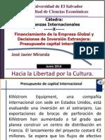 Unidad IV Financiamiento en La Empresa Global y Decisiones de IE