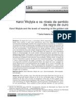 Salles, Sergio & Silveira, C.F. Karol Wojtyla e Os Níveis de Sentido Da Regra de Ouro
