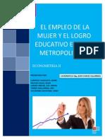 Empleo de Mujeres en Lima Metropolitana Final