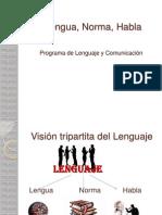 3- Lengua, Norma, Habla