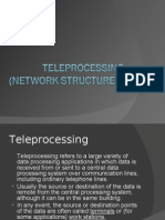 Teleprocessing(Network Structures)
