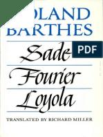 Barthes Roland Sade Fourier Loyola en 1976