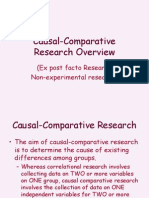 Causal Comparative Research
