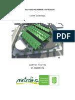 Especificaciones Técnicas de Construcción Estacionamiento Uis