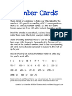 Number Cards Full Color