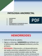 PATOLOGÍA ANORRECTAL