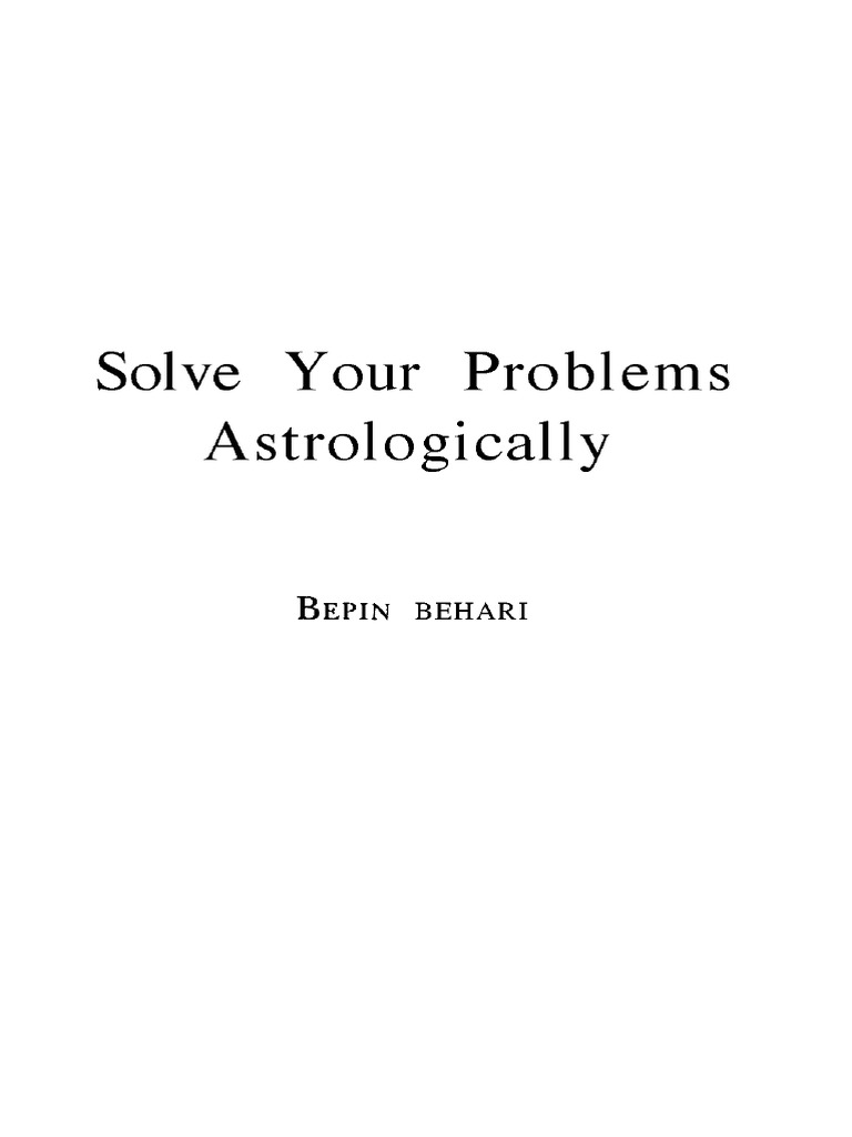 solve your problems astrologically bepin behari astrology planets