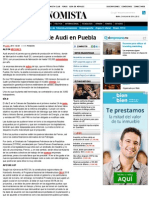 20-06-14 Casi lista planta de Audi en Puebla.