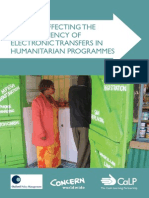 Factors Affecting the Cost-efficiency of Electronic Transfers in Humanitarian Programmes