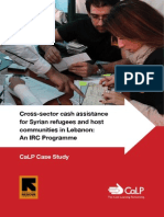 Cross-Sector Cash Assistance for Syrian Refugees and Host Communities in Lebanon