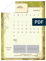 Calender Chaco