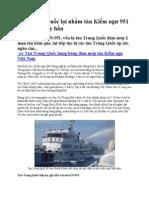 Tàu Trung Quốc Lại Nhằm Tàu Kiểm Ngư 951 Để Vây Ép