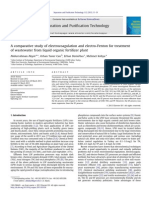 A Comparative Study of Electrocoagulation and Electro-Fenton for Treatment of Wastewater From Liquid Organic Ferti