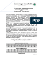 Vargem Grande Paulista - Gabarito Após Recursos