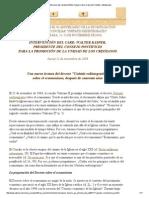 Conferencia Del Cardenal Walter Kasper Sobre El Decreto Unitatis Redintegratio