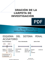 Integracion de La Carpeta de Investigacion