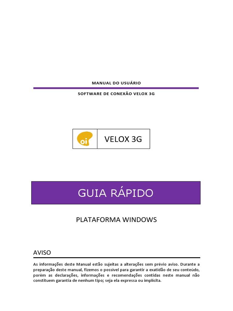 DISCADOR DA VELOX O BAIXAR OI 3G