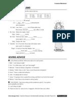 Interchange4thEd IntroLevel Unit12 Grammar Worksheet