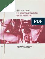 Bill Nichols La Represent Ac i on Del a Realidad
