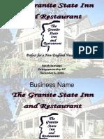 Granite Inn Business Plan Presentation