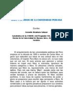Marx y La Crisis de La Universidad Peruana