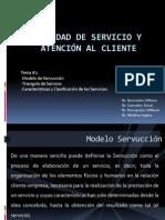 Calidad de Servicio y Atención Al Cliente