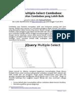 JQuery Multiple Select Combobox Untuk Tampilan Combobox Yang Lebih Baik
