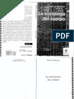 Le Breton David - La Sociologia Del Cuerpo