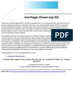 Royal College of Obstetricians and Gynaecologists - Antepartum Haemorrhage (Green-Top 63) - 2011-12-05