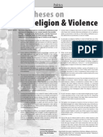 Theses on Religion & Violence