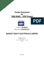 ONE BHEL ERP Tender Document1_1