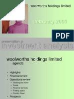 Woolworths Analyst Presentation Feb 2005
