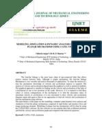 Modeling Simulation Dynamic Analysis of Four-bar Planar-libre