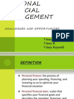 PERSONAL FINANCIALMANAGEMENT CHALLENGES AND OPPORTUNITIES