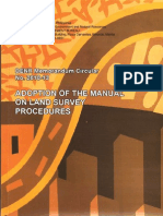 Adoption of the Manual on Land Survey