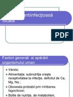 Curs IV Apărarea Antiinfecţioasă Locală